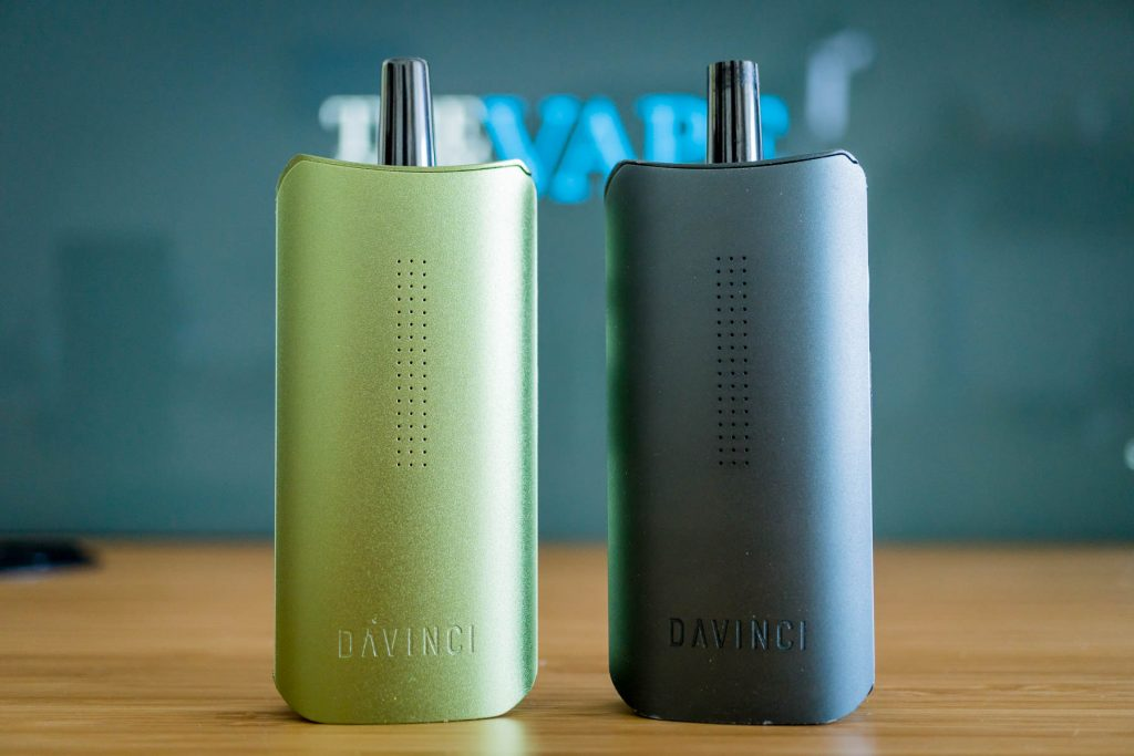 DaVinci IQ Portable Weed Vaporizer olive and stealth