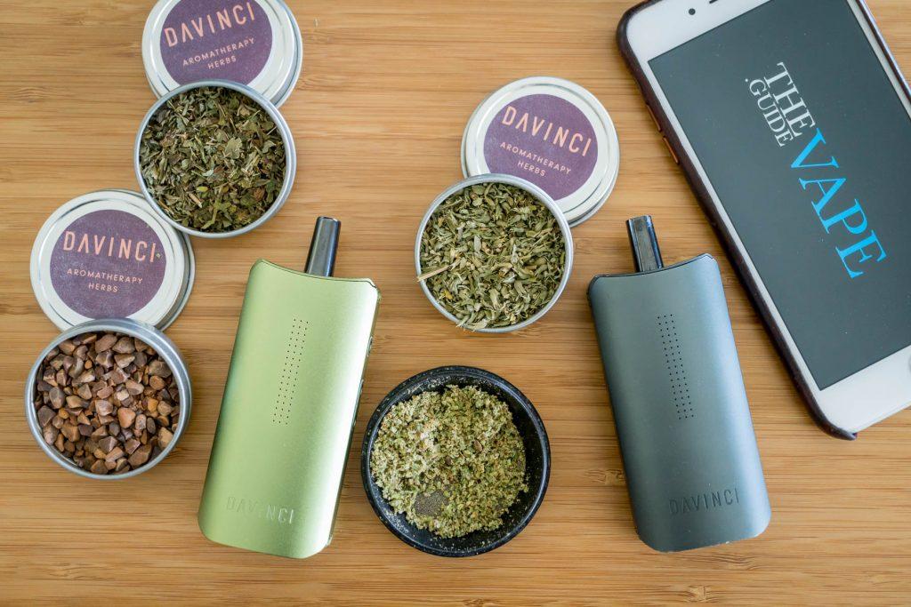 DaVinci IQ Portable Weed Vaporizers and aromatherapy tins