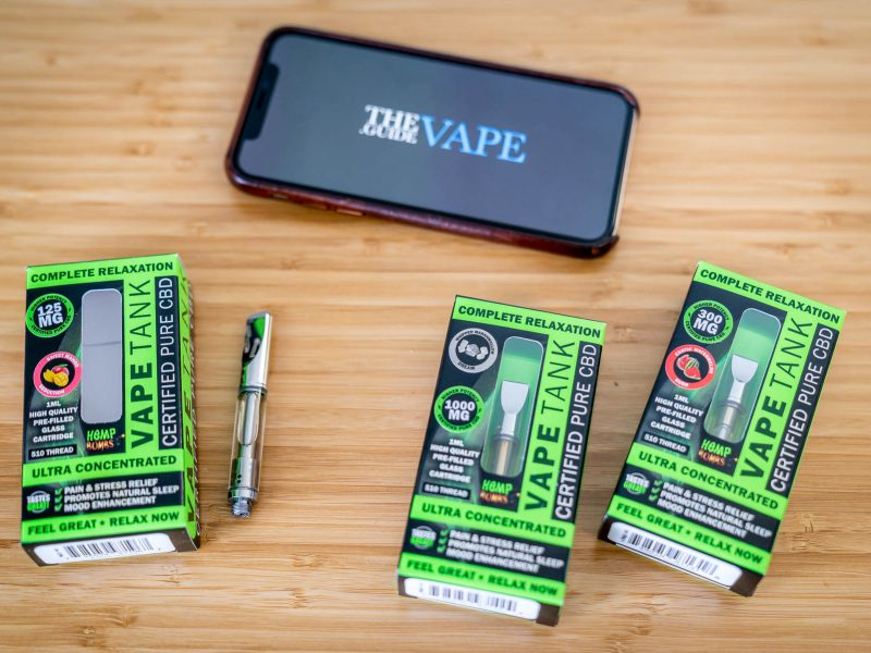 Hemp Bombs Prefilled CBD oil cartridges review flavor selection