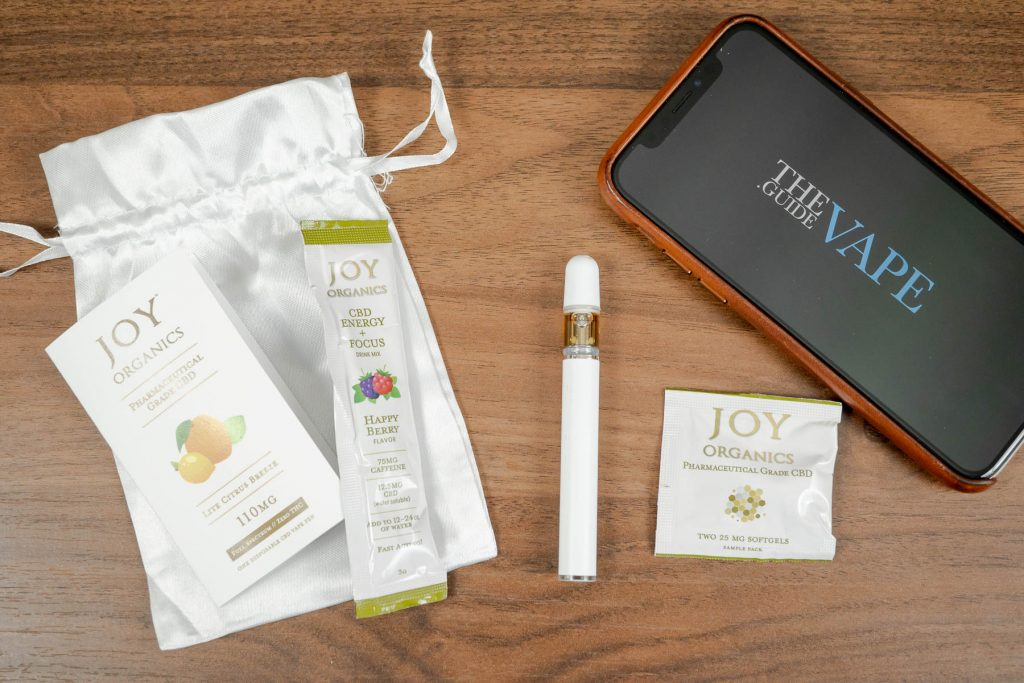 Joy Organics CBD vape pen samples