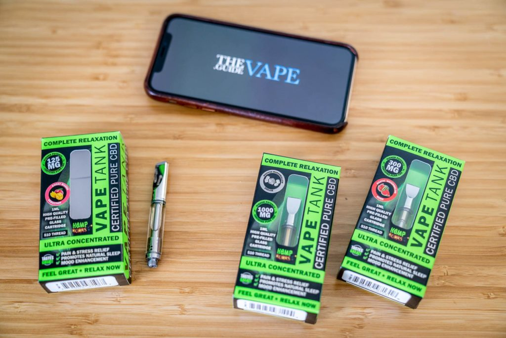 Hemp Bombs CBD 510 Cartridges Flavor Selection