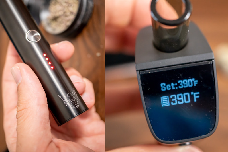 Dry Herb Vape temperature settings